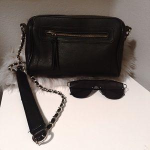 Black leather Crossbody